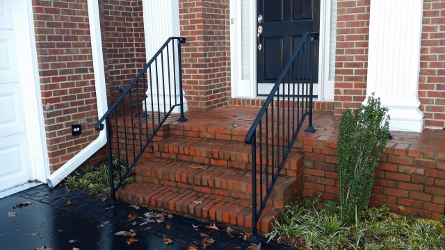 Front Entry Iron Railins