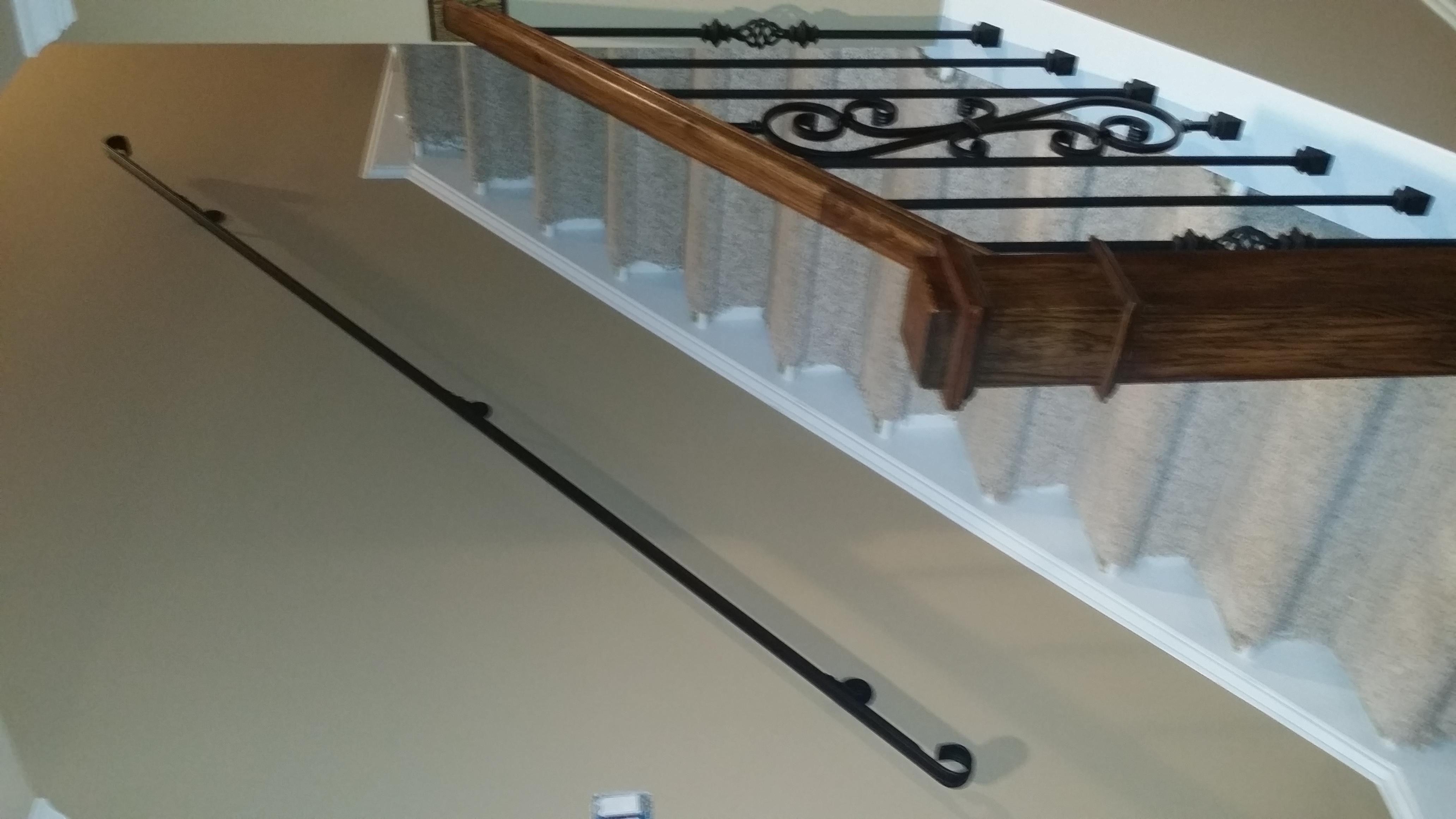 Newels handrails stair solution for Stair and railing solution
