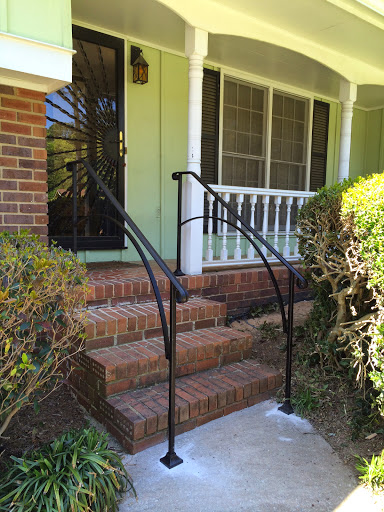 Iron X Exterior Handrails Stair Solution