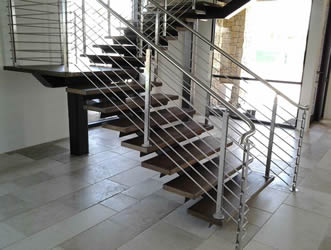 Stainless Steel Staircases. Stair Solution Now Offers Stainless Steel  Railings ...