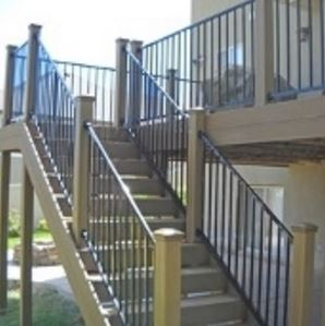 Fortress Angle Railing Stair Solution