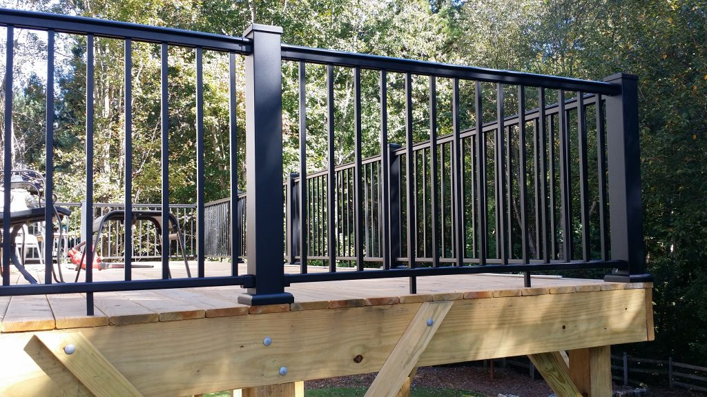 Aluminum Deck Railing Stair Solution