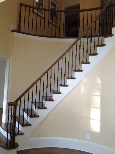 Curved Handrail with Iron