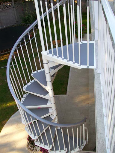 Arke eureka stair solution for 8 foot spiral staircase