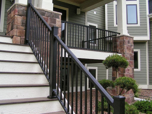 Deck railings stair solution for Stair and railing solution