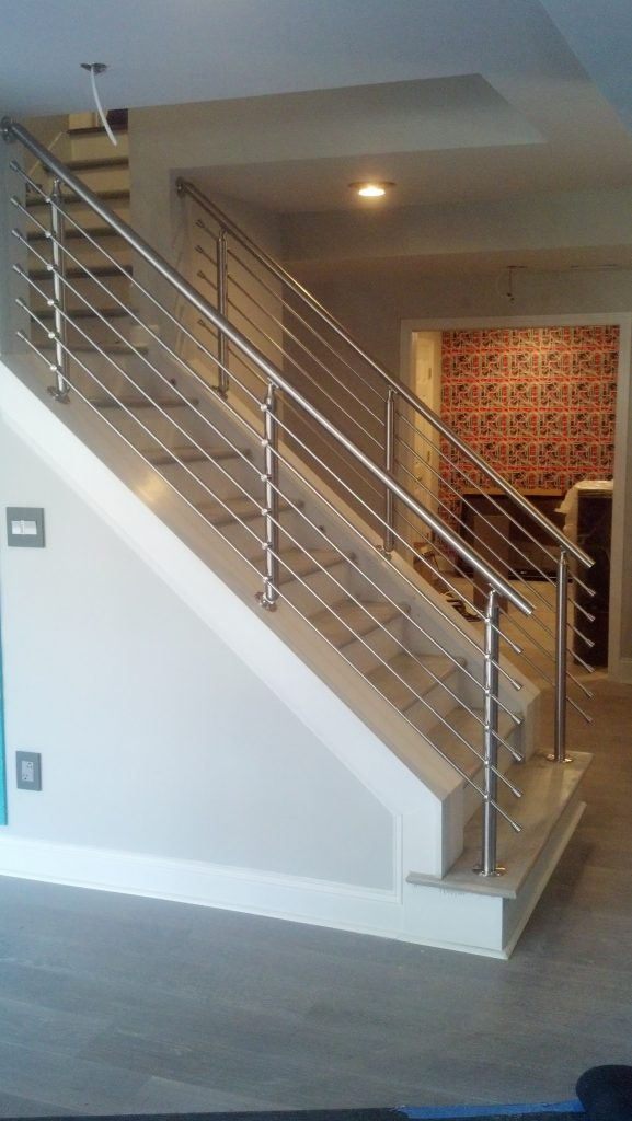 Stainless Angle Railings - Stair Solution
