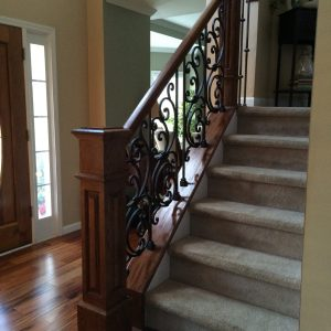 Iron Panel with Box Newel