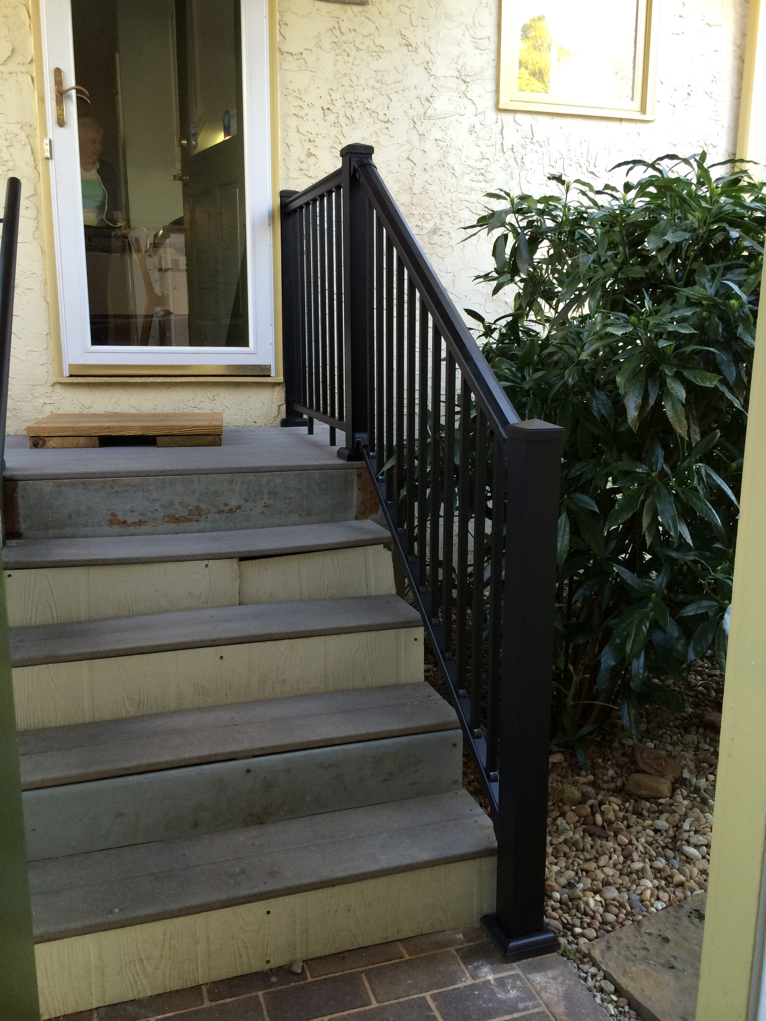 Exterior railing stair solution for Exterior stairs
