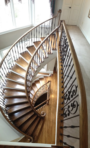 Double curved staircase stair solution for Double curved staircase