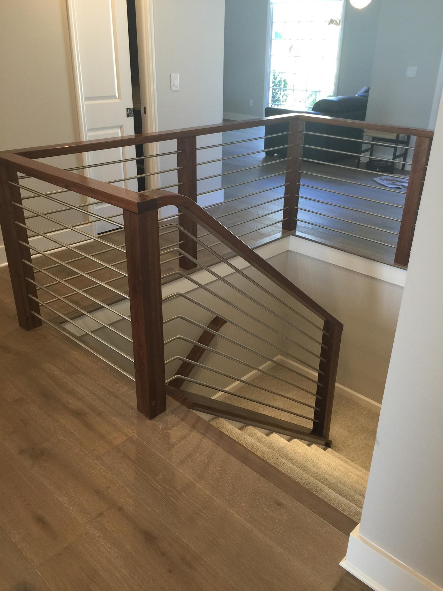 Modern Railing Systems In Wood Cable Wire Stainless