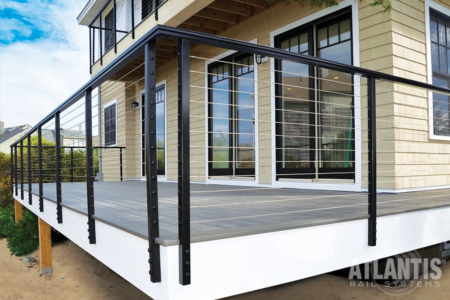 Atlantis exterior rail stair solution for Stair and railing solution