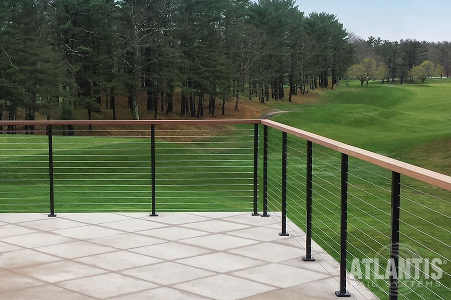 Atlantis exterior railing spectrum stair solution 6 for Stair and railing solution