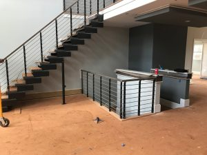 Minimal Handrail system with Composity Staircase new construction