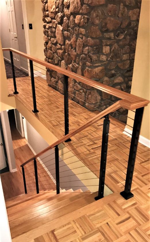 Modern Railing Systems In Wood Cable Wire Stainless Steel